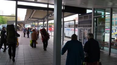 Buchanan Bus Station: Victim treated in hospital after 'stabbing'.