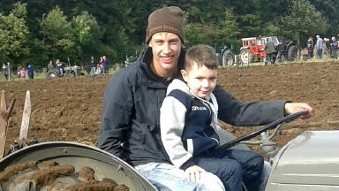 William Sangster: Crash victim with younger brother Lewis.