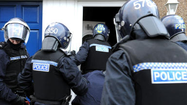 Police carried out raids in West Lothian (file pic).