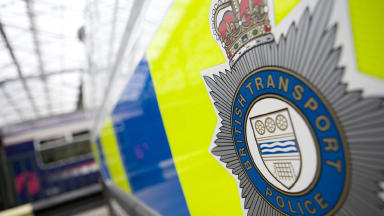 Probe: British Transport Police officers are investigating (file pic).