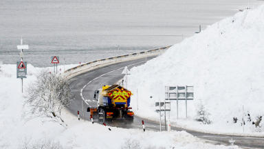 Snow: Up to 10cm of snow could fall in places (file pic).