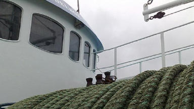 Fishing Boat: Crewman suffers serious hand injury.
