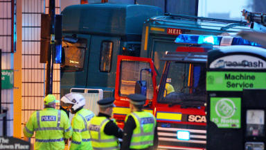 Crash: Scene after George Square tragedy (file pic).