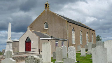 Portlethen Church and cemetery/graveyard.