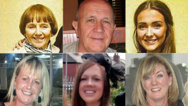 Crash victims: Families praised by sheriff for their composure in court during inquiry.