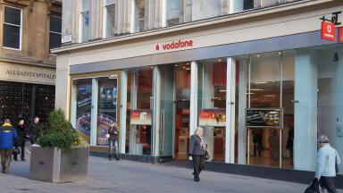 Vodaphone Shop on Buchanan Street