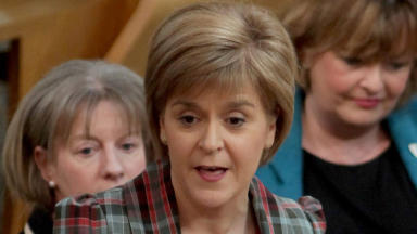 First Minister Nicola Sturgeon at FMQs Scottish Parliament January 22 2015 quality news generic image