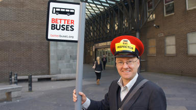 Patrick Harvie launches 'better buses'