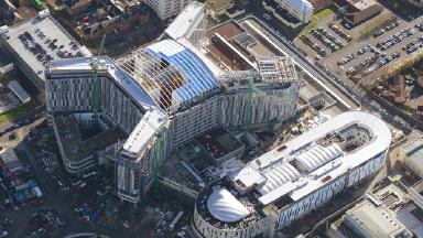 The new South Glasgow University Hospital and new Royal Hospital for Sick Children