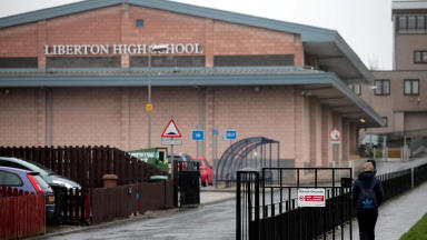 Discovery: Pupils found the body near Liberton High.