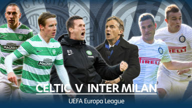 Celtic take on Inter Milan in the Europa League.