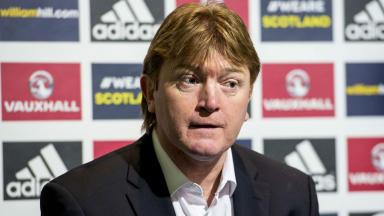 Scotland coach Stuart McCall speaks to the media ahead of the Scotland v Northern Ireland challenge match