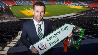 Silverware: Ronny Deila (right) hopes to get his hands on his first cup as Celtic boss on Sunday.