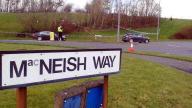 Police: Scene where victim was allegedly shot and dumped in East Kilbride.