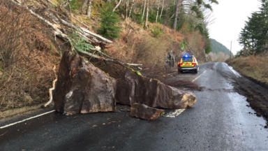 A82: Lanslide on the road between  Tarbet and Inverarnan.