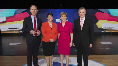 Clash: Four leaders debate on STV.