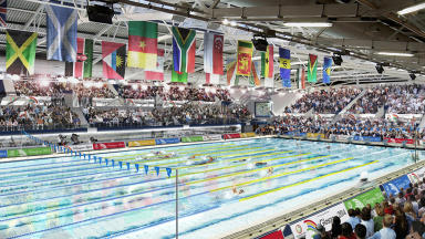 Games: An artist's impression of the completed Tollcross International Swimming Centre.