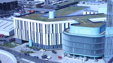 South Glasgow Hospital complex gv from helipad quality news image uploaded April 27 2015