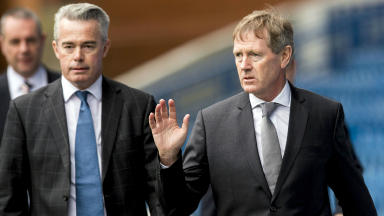 Rangers' Paul Murray (left) and Dave King
