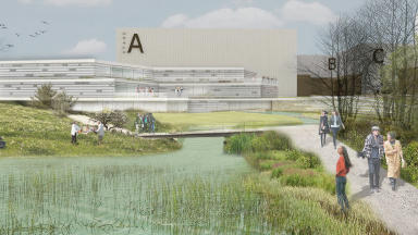 Film studio to be built at Straiton near the Pentlands. Image from architects Keppie.