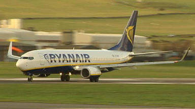 Ryanair: Unveiled its winter schedules from Edinburgh, Glasgow and Prestwick airports (file pic)