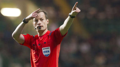 In exile: Willie Collum will spend a total of three weeks in the Championship.