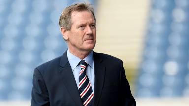 Dave King arrives at Ibrox ahead of his side's meeting with Hibernian.