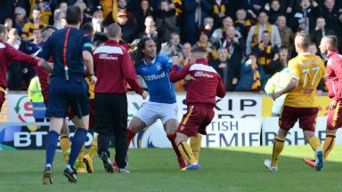Bilel Mohsni, Rangers, Lee Erwin, Motherwell, Premiership play-off