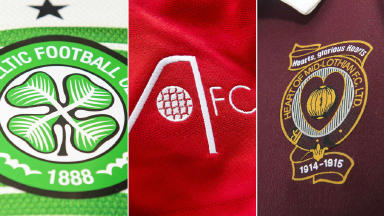 Celtic, Aberdeen and Hearts badge