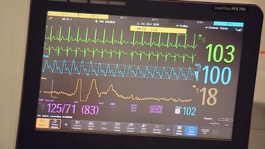 Heart monitor health hospital generic ward health news image from broadcast uploaded June 11 2015