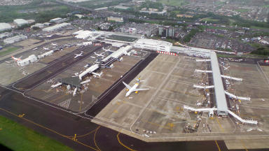 Travel: Glasgow Airport saw more than 660,000 flights. (file pic)