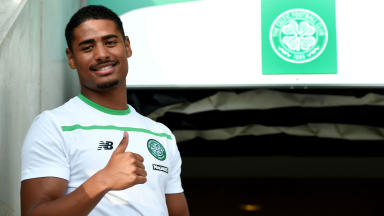 New Celtic signing Saidy Janko attends the pre-season friendly against Den Bosch.