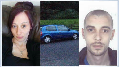 John Yuill and Lamara Bell last seen in the Loch Earn area of Stirlingshire blue Renault Clio police collect uploaded with permission July 8 2015. DON'T USE