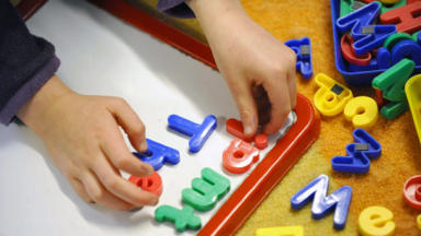 Generic image of child playing used for nursery or school stories.