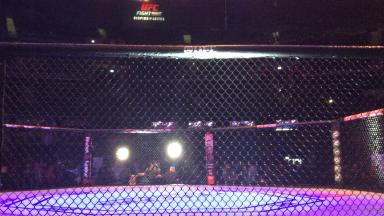 UFC Glasgow cage