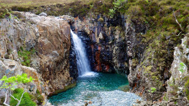 Fairy Pools on Skye at Glen Brittle. Photo from Flickr, Creative Commons. Uploaded July 20 2015