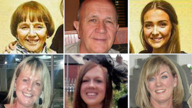 Victims: Those who died in the George Square bin lorry crash.