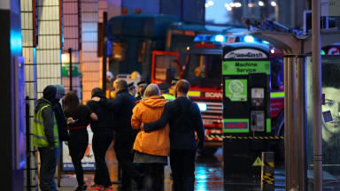 Tragedy: Bin lorry crashed outside Queen Street station at George Square