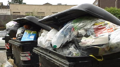 Bins: Concerns were raised in August about missed collections (file pic).