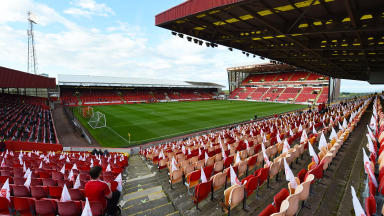 Pittodrie: Police released CCTV images after the match on September 25 (file pic).