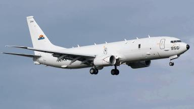 Poseidon P-8A: Landing at RAF Lossiemouth this weekend.