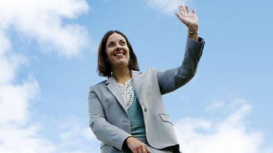 Kezia Dugdale on being elected leader of the Scottish Labour Party quality news image from PA uploaded August 17 2015.