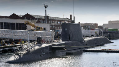 HMS Artful Royal Navy Astute Class nuclear-powered submarine Faslane Naval Base on the Clyde quality news image uploaded August 19 2015.