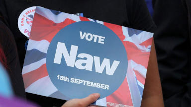 Vote Naw Better together no thanks campaign poster generic quality indyref