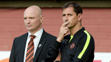 Dundee Utd manager Jackie McNamara (right) and Chairman Stephen Thompson.