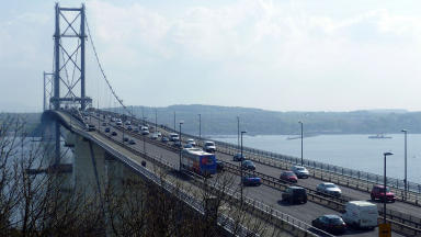 Open bridge: Forth Road Bridge welcoming traffic again.