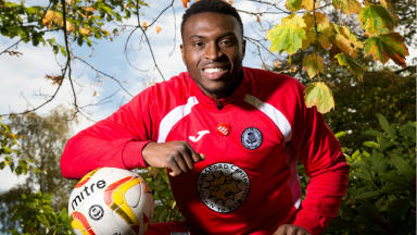 Partick Thistle forward David Amoo photocall 15/10/2015 SNS Pix