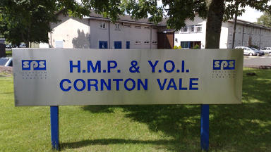 Prison: Inspections were carried out at Cornton Vale (file pic).
