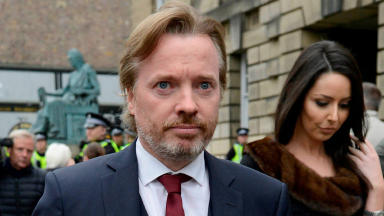 Craig Whyte: Former Rangers owner outside court in Edinburgh.