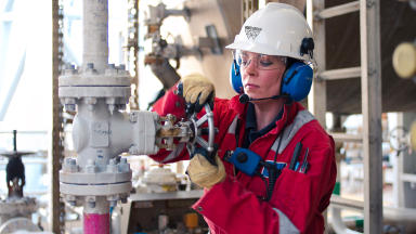 Woman working offshore for Wood Group in North Sea. Uploaded October 2015 as stock / generic from Wood Group #oilgeneric